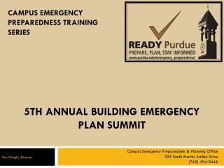 5th ANNUAL BUILDING EMERGENCY PLAN SUMMIT