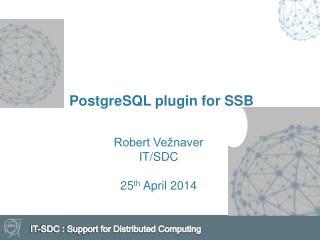 PostgreSQL  plugin  for SSB