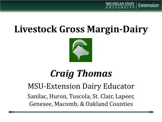 Livestock Gross Margin-Dairy
