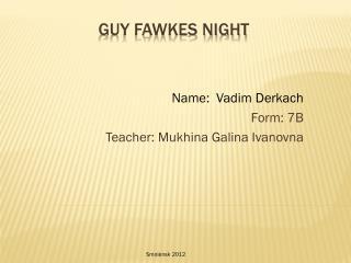 Guy Fawkes Night