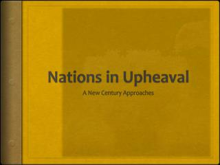 Nations in Upheaval