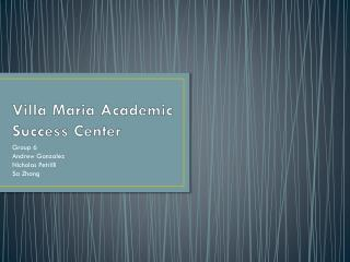 Villa Maria Academic Success Center