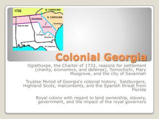 Colonial Georgia