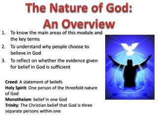 The Nature of God:  An Overview