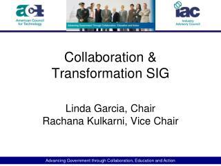 Collaboration & Transformation SIG