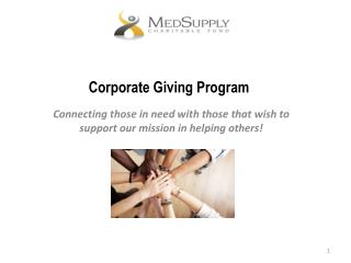 Corporate Giving Program