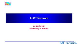 ALCT firmware