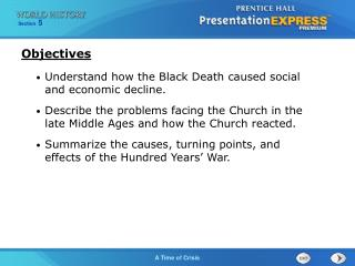 Understand how the Black Death caused social and economic decline.