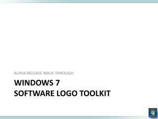 Windows 7  software logo TOOLKIT