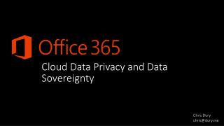 Cloud Data Privacy and Data Sovereignty