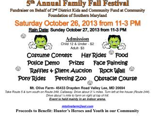 5 th  Annual Family Fall  Festival