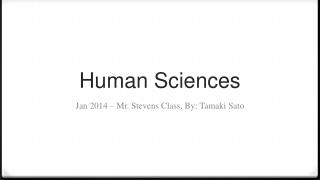 Human Sciences