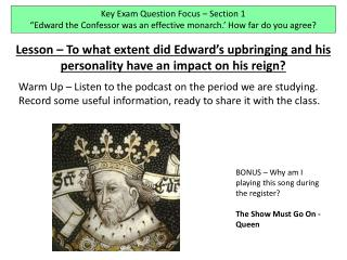 Key Exam Question Focus – Section 1