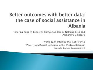 Better outcomes with better data: the case of social assistance in Albania