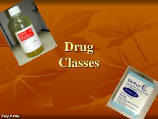Drug  Classes