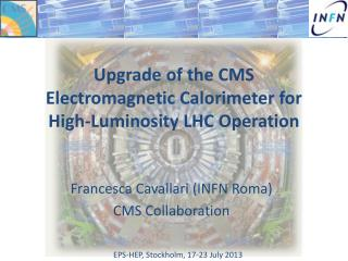 Upgrade of the CMS Electromagnetic Calorimeter for High-Luminosity LHC Operation