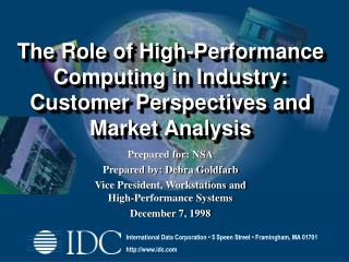 The Role of High-Performance Computing in Industry: Customer Perspectives and Market Analysis
