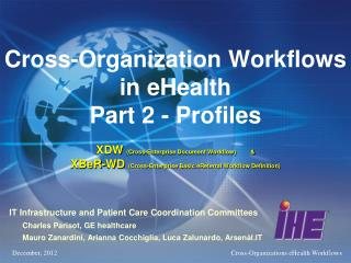 IT Infrastructure and Patient Care Coordination Committees       Charles  Parisot, GE healthcare
