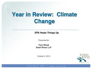 Year in Review:  Climate Change