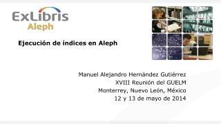 Ejecución de índices en  Aleph