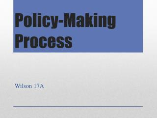 Policy-Making Process