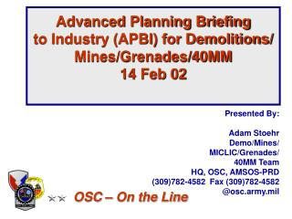 Advanced Planning Briefing  to Industry APBI for Demolitions