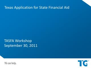 TASFA Workshop September 30, 2011
