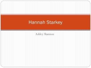 Hannah Starkey