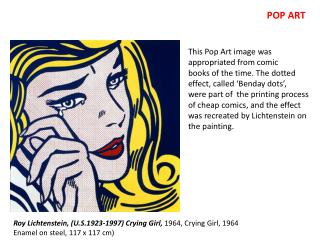 Roy Lichtenstein, (U.S.1923-1997) Crying Girl,  1964,  Crying Girl, 1964