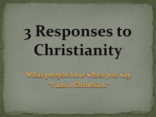 3 Responses to Christianity