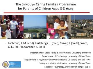 The  Sinvouyo Caring Families  Programme for Parents of Children Aged 3-8 Years