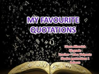 My  favourite  quotations
