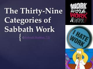 The Thirty-Nine Categories of Sabbath Work