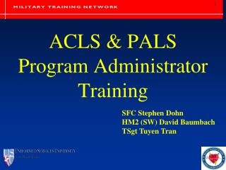ACLS & PALS  Program Administrator Training