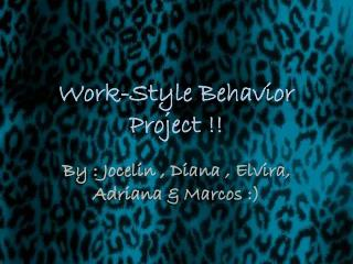 Work-Style Behavior  Project !!