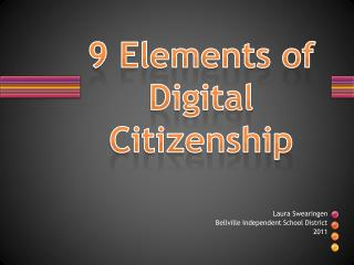 9 Elements of Digital Citizenship