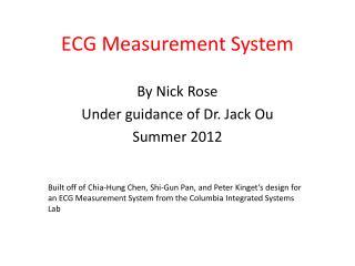 ECG Measurement System