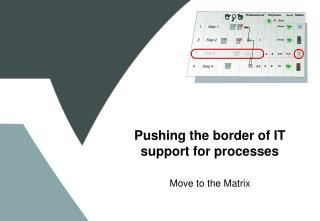 Pushing the border of IT support for processes