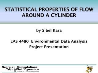 STATISTICAL PROPERTIES OF FLOW AROUND A CYLINDER