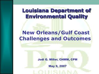Louisiana Department of Environmental Quality