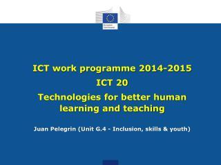 ICT work programme 2014-2015 ICT 20