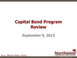 Capital Bond Program Review