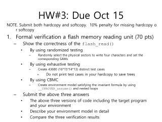 HW#3: Due  Oct  15