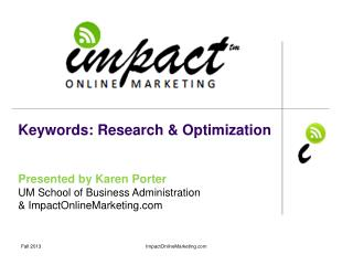 Keywords: Research & Optimization