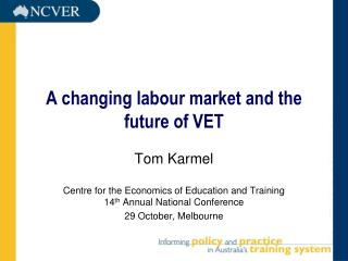 A changing labour market and the future of VET