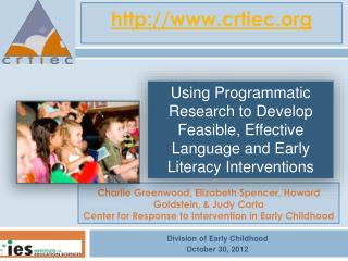 Division of Early Childhood October 30, 2012