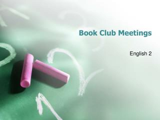 Book Club Meetings