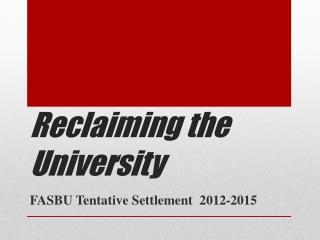 Reclaiming the University