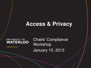Access & Privacy