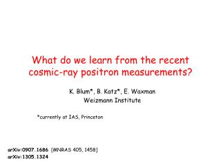 What do we learn from the recent cosmic-ray positron measurements?